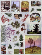 Unmounted Rubber Stamp Set Scenic Landscapes #Scen-128