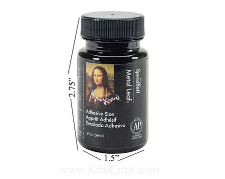 Speedball Mona Lisa metal leaf adhesive size glue gold leafing foil application