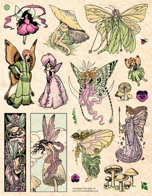 Unmounted Rubber Stamp Set Vintage Fairy Stories #Tale-124