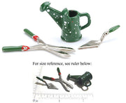 Miniature Doll House Garden Tools 3 Piece Set