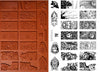 Unmounted Rubber Stamp Set Mythology Dominoes #Unis-M08