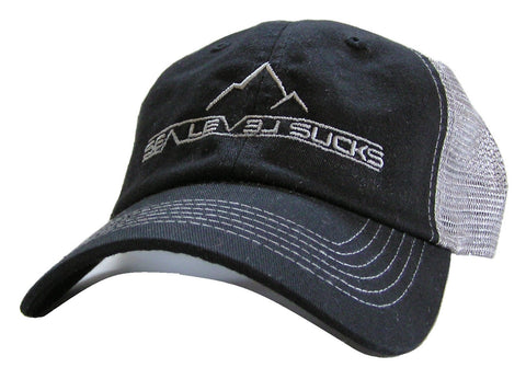 """The Big Rig"" Trucker Hat-Black & Gray"