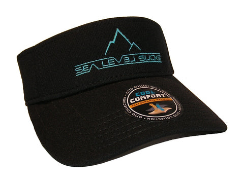"""The False Summit"" Visor-Black & Electric Blue"