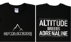 """The Adrenaline"" Men's Short Sleeve Tee-Black & White"
