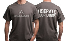 """The Liberator"" Men's Short Sleeve Tee-Charcoal & White"
