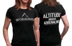 """The Adrenaline"" Women's Short Sleeve Tee-Black & White"