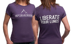 """The Liberator"" Women's Short Sleeve Tee-Purple & White"