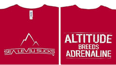 """The Adrenaline"" Women's Short Sleeve Tee-Cardinal & White *Medium Only*"