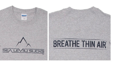 """The Breather"" Men's Short Sleeve Tee-Sport Grey & Navy Blue"