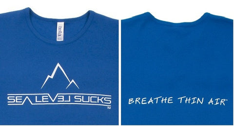 """The Breather"" Women's Short Sleeve Tee-Royal Blue & White"