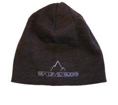 """The Basalt"" Toaster Beanie-Charcoal & Sky Blue"