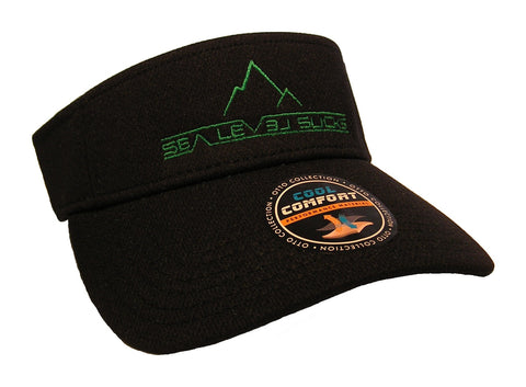 """The False Summit"" Visor-Black & Green"