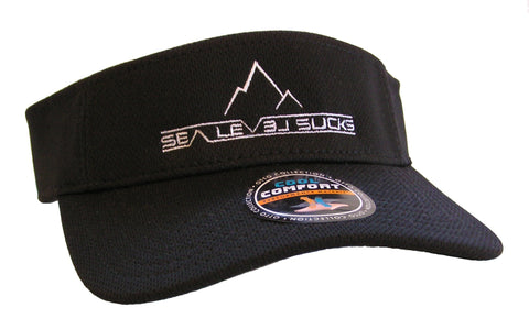 """The False Summit"" Visor-Black & White"