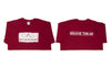 """The Breather"" Men's Short Sleeve Tee-Cardinal & Whitewash *XL Only*"