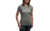 """The Breather"" Women's Short Sleeve Tee-Deep Heather & White"