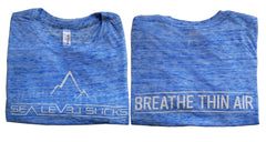 """The Breather"" Women's Short Sleeve Tee-Light Blue Marble & White"