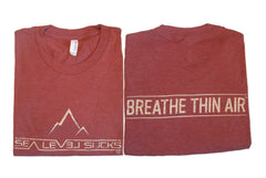 """The Breather"" Men's Short Sleeve Triblend Tee-Sandstone & Khaki"