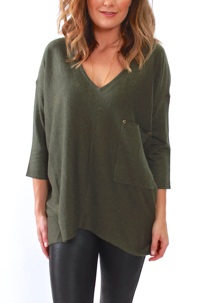 Kerisma, Raven Sweater in Olive M2048