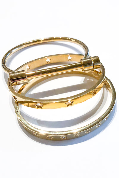 MO Gold cuffs and bracelets - Viva Diva Boutique