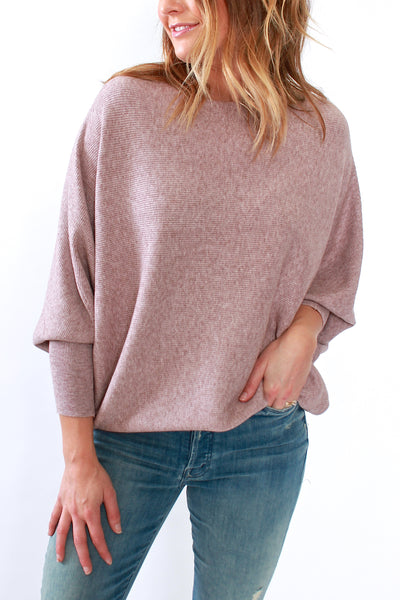 Kerisma Ryu Dolman Sweater in Taupe Dusty Pink - Viva Diva Boutique
