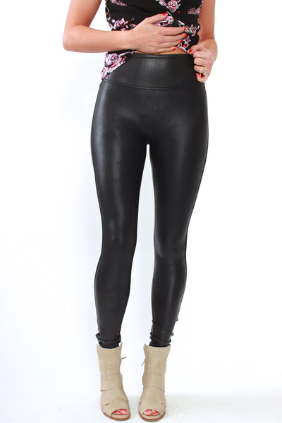 Spanx Faux Leather Legging in Black - Viva Diva Boutique