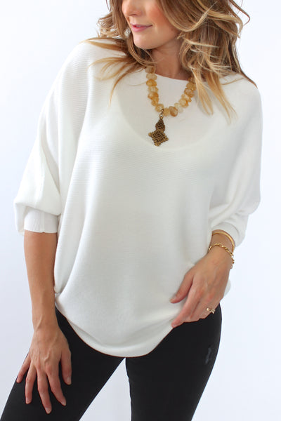 Kerisma, Ryu Dolman Sweater in Ivory