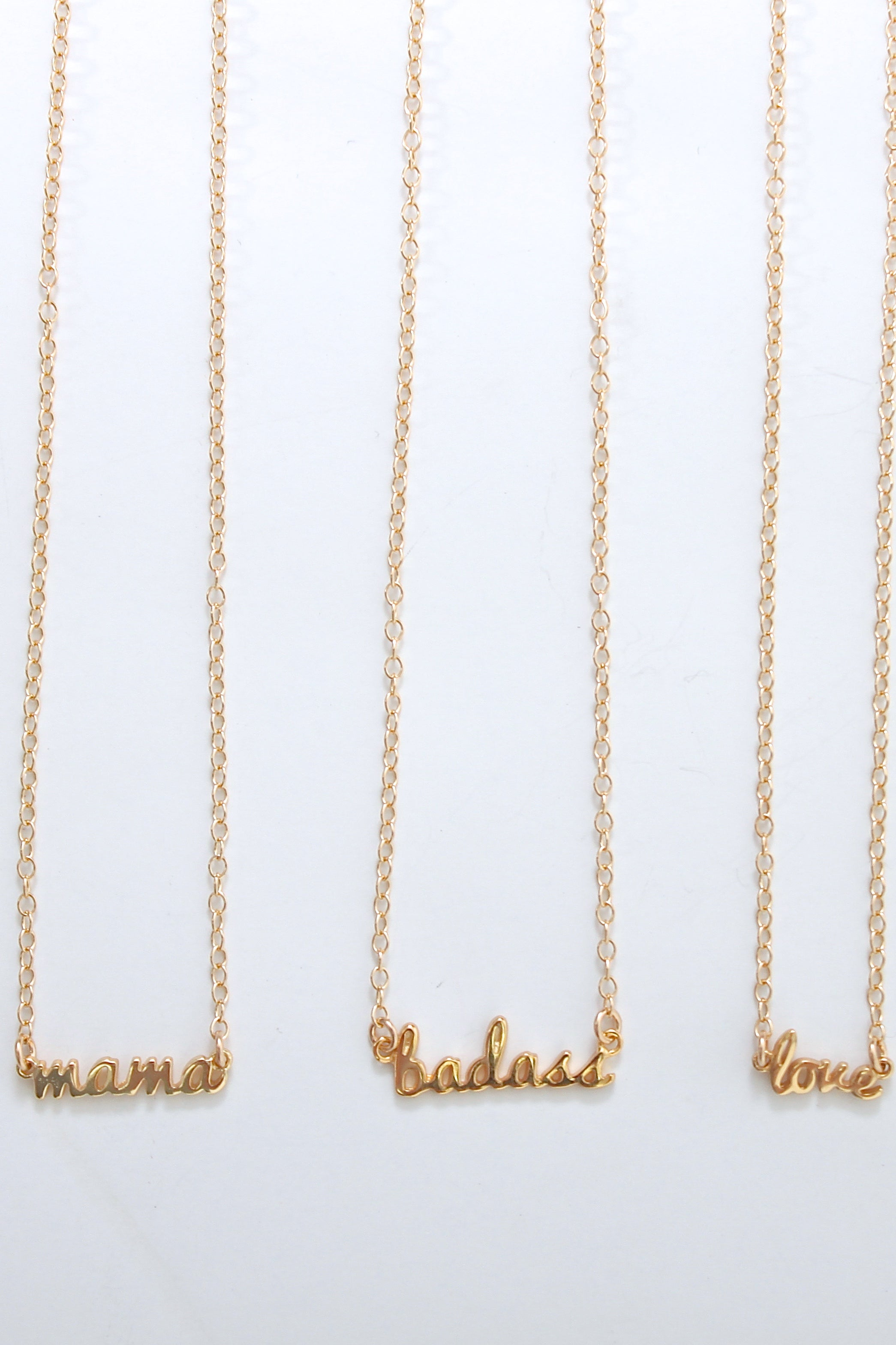 Kris Nations, Script necklaces - Viva Diva Boutique