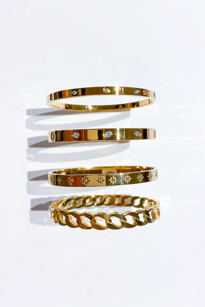 MO Gold cuffs - Viva Diva Boutique