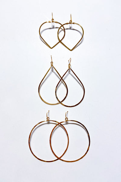 Hammered Hoop Earrings - Viva Diva Boutique