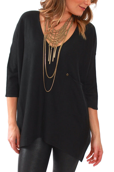Kerisma, Raven Sweater in Black - Viva Diva Boutique