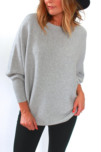 Kerisma, Ryu Dolman Sweater in Heather Grey - Viva Diva Boutique