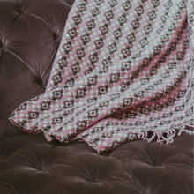 Load image into Gallery viewer, Welsh Tapestry Style Blanket - Pink and Black