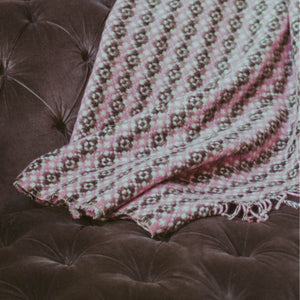 Welsh Tapestry Style Blanket - Pink and Black