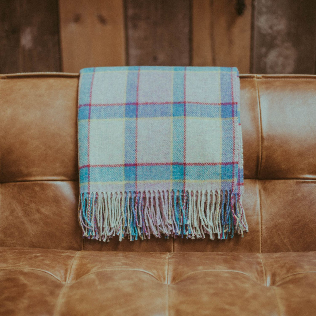 Lilac Rainbow Windowpane Throw