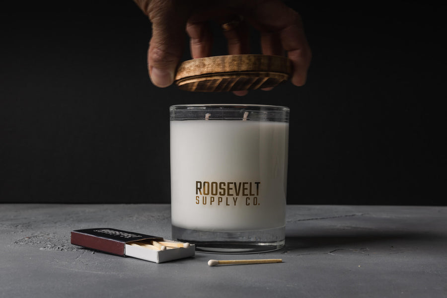 Redwood Cocktail Glass Candle