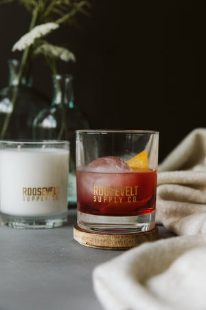 Shenandoah Cocktail Glass Candle