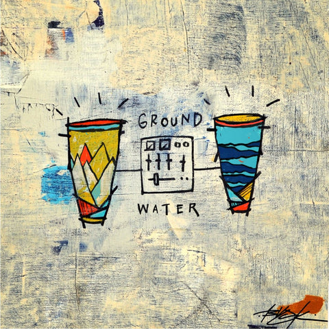 Blu & Damu The Fudgemunk - Ground & Water LP (Blue Vinyl)
