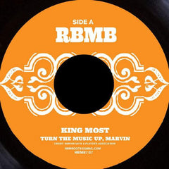 King Most - Turn The Music Up, Marvin b/w Hook, Swing & Rip 7-Inch