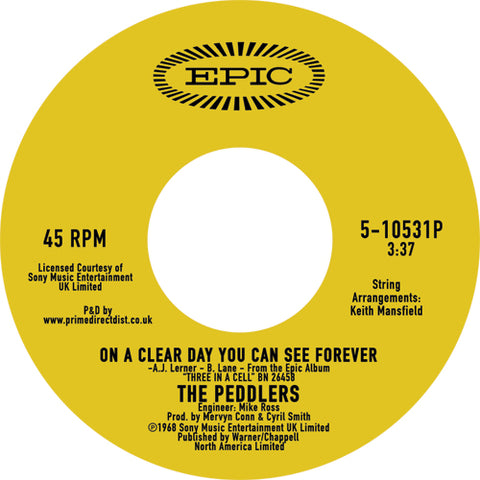 Peddlers - On A Clear Day 7-Inch