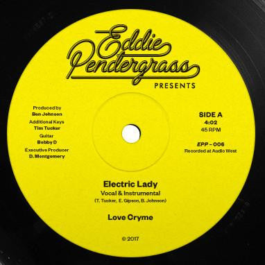 Love Cryme - Electric Lady / Under The N Fluence 12-Inch