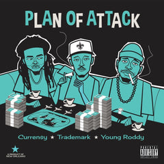 Curren$y, Trademark Da Skydiver & Young Roddy - Plan Of Attack LP (Turquoise Vinyl)