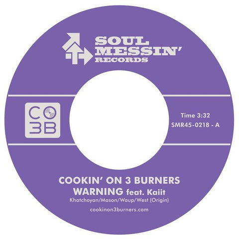 Cookin' On 3 Burners - Warning b/w The Jump Off 7-Inch