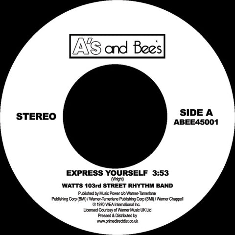 Watts 103rd Street Rhythm Band - Express Yourself 7-Inch