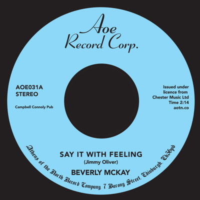 Beverly McKay - Say It With Feeling 7-Inch