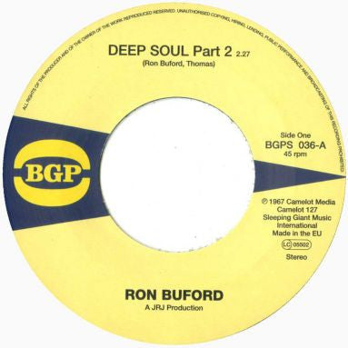 Ron Buford - Deep Soul (pt2) / More Soul 7-Inch
