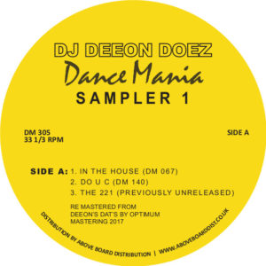 DJ Deeon - Dance Mania Sampler 1 EP