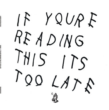 Drake - If You're Reading This You're Too Late 2LP