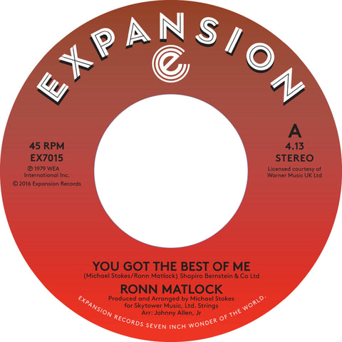 Ronn Matlock - You Got The Best Of Me 7-Inch