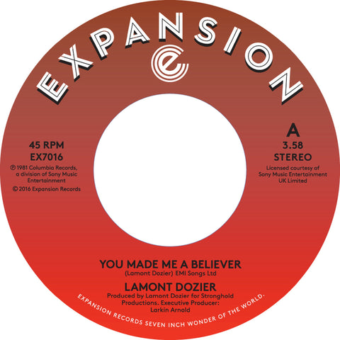 Lamont Dozier - You Made Me A Believer 7-Inch