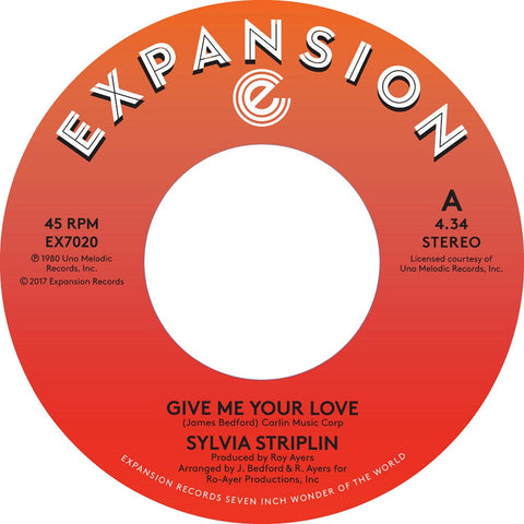 Sylvia Striplin - Give Me Your Love 7-Inch